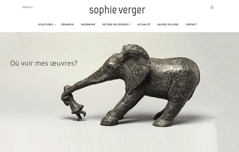Projet Accompagnement Digital Sophie Verger Sculpteur