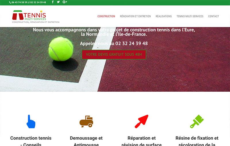 Tennis mULTI service - Audit Positionnement, refonte site vitrine et publicité adwors