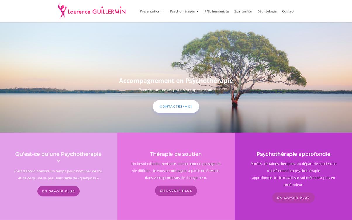 Site Internet Vitrine de Laurence Guillermin