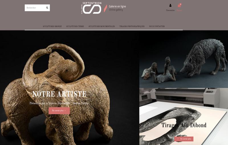 Création site E-commerce Septentrion Sophie Verger de la Galrie Septentrion