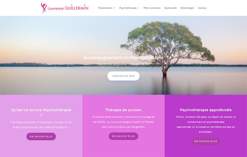 Projet Site Internet Vitre Laurence Guillermin Thérapeute à Strasbourg