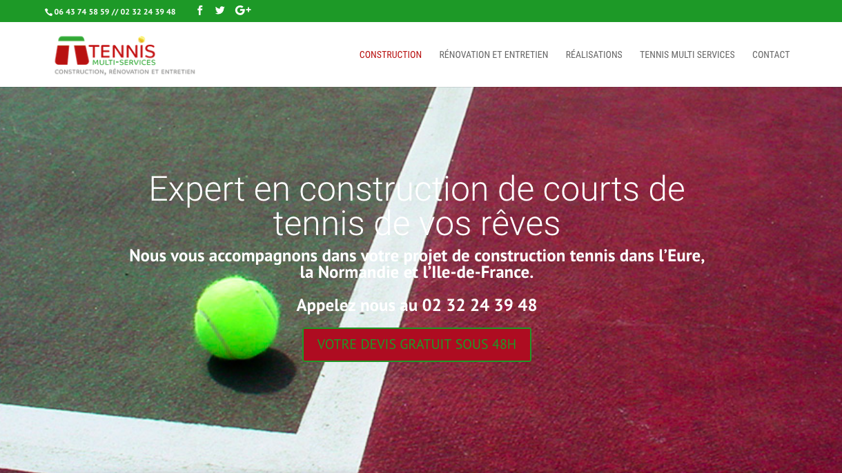 Tennis Multi Service - Construction et Renovation des courts de Tennis Eure