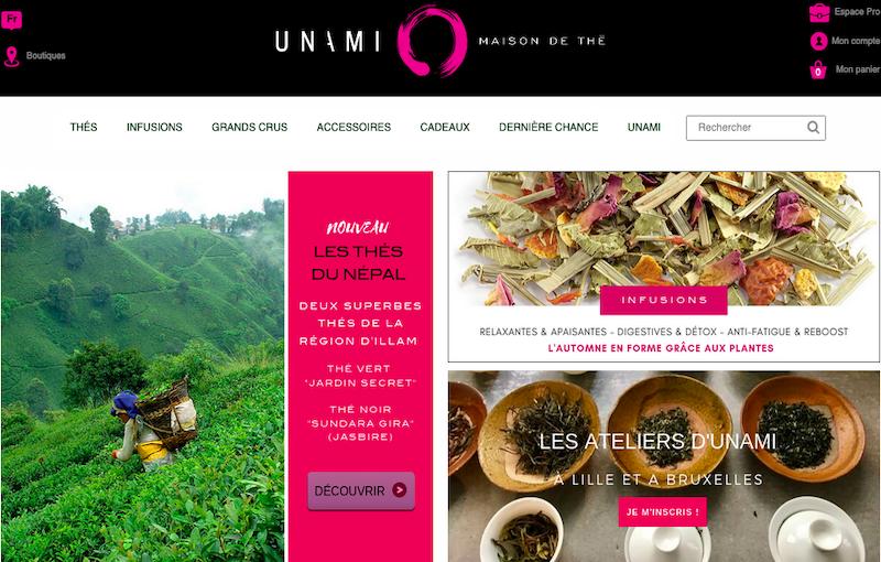 Refonte ecommerce Prestashop Unami - Maison de thé à Lille et Bruxelles