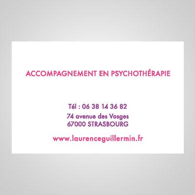 Carte de Visite recto de Laurence Guillermin Thérapeute à Strasbourg