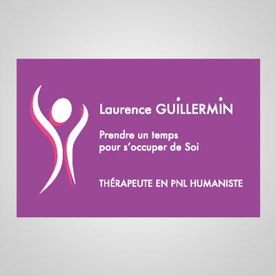 Carte de Visite verso de Laurence Guillermin Thérapeute à Strasbourg